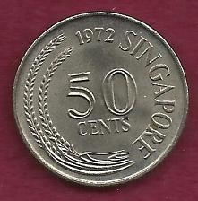 Buy SINGAPORE 50 Cents 1972 Coin - Scorpion Fish, Reeded Rim