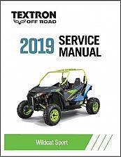 Buy 2019 Textron Off Road (Arctic Cat) Wildcat Sport Service Manual CD