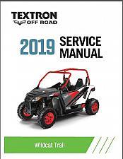 Buy 2019 Textron Off Road (Arctic Cat) Wildcat Trail Service Manual CD