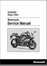 Buy 2017-2018 Kawasaki Z1000SX / Ninja 1000 Service Repair Manual on a CD