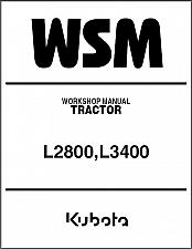 Buy Kubota L2800 L3400 Tractor WSM Service Workshop Manual on a CD