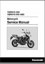 Buy 2015-2017 Kawasaki Versys 650 / Versys 650 ABS Service Repair Manual on a CD