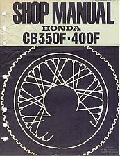 Buy Honda CB350F / CB400F Service Repair Shop Manual on a CD