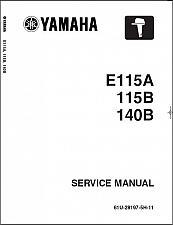 Buy Yamaha E115 115 140 2-Stroke Outboard Motors Service Manual CD