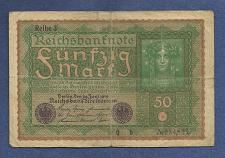Buy GERMANY 50 MARK 1919 Banknote 984821, Reiche 3 - Woman at Right