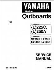 Buy Yamaha 225 / 250 / L225 / L250 2-Stroke Outboard Motors Service Manual CD