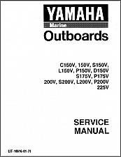 Buy Yamaha 150 175 200 225 2-Stroke V-6 Outboard Motors Service Manual CD