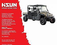 Buy Hisun HS750 Crew ( HS750UTV-2 ) UTV Service / Maintenance Manual CD - HS 750