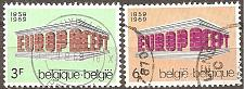 Buy [BE0718] Belgium: Sc. no. 718-719 (1969) Used Complete Set