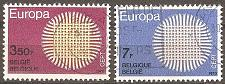 Buy [BE0741] Belgium: Sc. no. 741-742 (1970) Used Complete Set