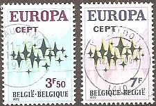 Buy [BE0825] Belgium: Sc. no. 825-826 (1972) Used Complete Set