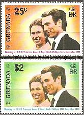 Buy [GR0516] Grenada: Sc. no. 516-517 (1973) MNH Complete Set