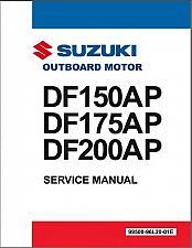 Buy Suzuki DF150AP / DF175AP / DF200AP Outboard Motor Service Repair Manual CD
