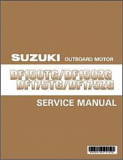 Buy 2013-2017 Suzuki DF150TG DF150ZG DF175TG DF175ZG Outboard Motor Service Manual CD