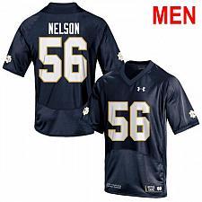 Buy Men's Notre Dame #56 Quenton Nelson 2019 NCAA Football Jersey Navy