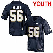 Buy Youth Notre Dame #56 Quenton Nelson 2019 NCAA Football Jersey Navy