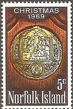 Buy [NI0125] Norfolk Island: Sc. no. 125 (1969) MNH Single
