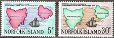 Buy [NI0123] Norfolk Island: Sc. no. 123-124 (1969) MNH Complete Set