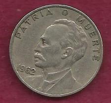 Buy 1919 Republic of Cuba Viente (20) Centavos - Sharp Details, Jose Marti Cu-Ni Coin