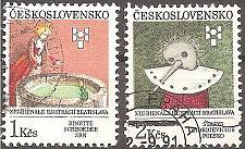 Buy [CZ2834] Czechoslovakia: Sc. no. 2834-2835 (1991) Used complete set