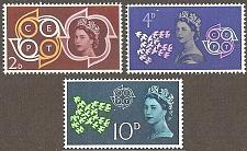 Buy [GB0384] Great Britain: Sc. no. 384-386 (1961) MNH Complete Set