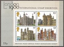 Buy [GB0334] Great Britain: Sc. no. 334a (1978) MNH Miniature Sheet