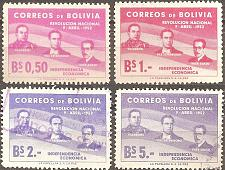 Buy [BO0378] Bolivia: Sc. no. 378-380 (1953) Used