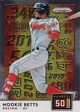 Buy 2019 Panini Prizm Numbers Game #2 - Mookie Betts - Red Sox