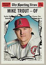 Buy 2019 Topps Heritage #357 - Mike Trout AS - Angels
