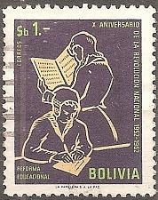 Buy Bolivia: Sc. no. 0474 (1963) Used