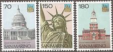 Buy [SM0885] San Marino: Sc. no. 885-887 (1976) MNH Complete Set