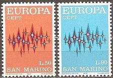Buy San Marino: Sc. no. 0771-0772 (1972) MNH Complete Set
