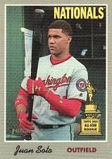 Buy 2019 Topps Heritage '70 Cloth Stickers #4 - Juan Soto - Nationals