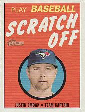 Buy 2019 Topps Heritage '70 Scratch Offs #4 - Justin Smoak - Blue Jays