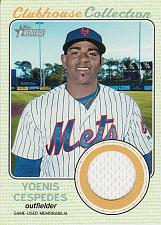 Buy 2017 Topps Heritage Clubhouse Collection Relics #CCR-YC - Yoenis Cespedes - Mets