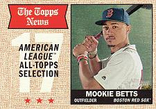 Buy 2017 Topps Heritage #362 - Mookie Betts - Red Sox