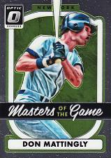 Buy 2017 Donruss Optic Masters Of The Game #11 - Don Mattingly - Yankees