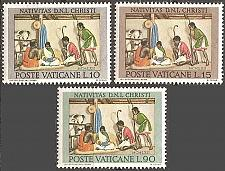 Buy [VC0353] Vatican City: Sc. no. 353-355 (1962) MNH full set