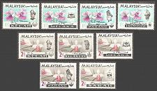 Buy [MA00M2] Malaysian States: 9 different MNH
