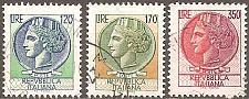 Buy [IT1288] Italy: Sc. no. 1288-1290 (1977) Used