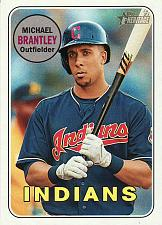 Buy 2018 Topps Heritage #385 - Michael Brantley - Indians