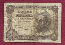 "Buy SPAIN 1 PESETA 1951 BANKNOTE L8994870 - ""Don Quiqote"" Pick 139"