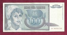 Buy YUGOSLAVIA 100 Dinara 1992 Banknote (P-112) AF 8958730