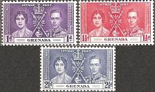 Buy [GR0128] Grenada: Sc. no. 128-130 (1937) MLH Complete Set