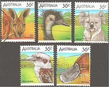 Buy [AU0992] Australia: Sc. no. 992a-992e (1986) Used Complete Set