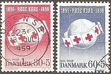 Buy [DE0B26] Denmark: Sc. no. B26-B27 (1959) Used Complete Set