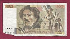 Buy FRANCE 100 FRANCS 1989 NOTE 835773 Eugene Delacroix KM154 Liberty Leading People