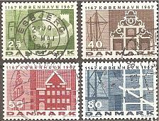 Buy [DE0432] Denmark: Sc. no. 432-435 (1967) Used Complete Set
