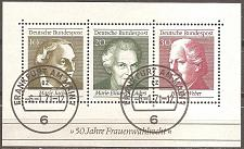 Buy [GE1008] Germany: Sc. No. 1007 (1969) Used Miniature Sheet