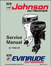 Buy Evinrude / Johnson 25 40 45 48 50 55 HP Models Outboard Motors Service Manual CD